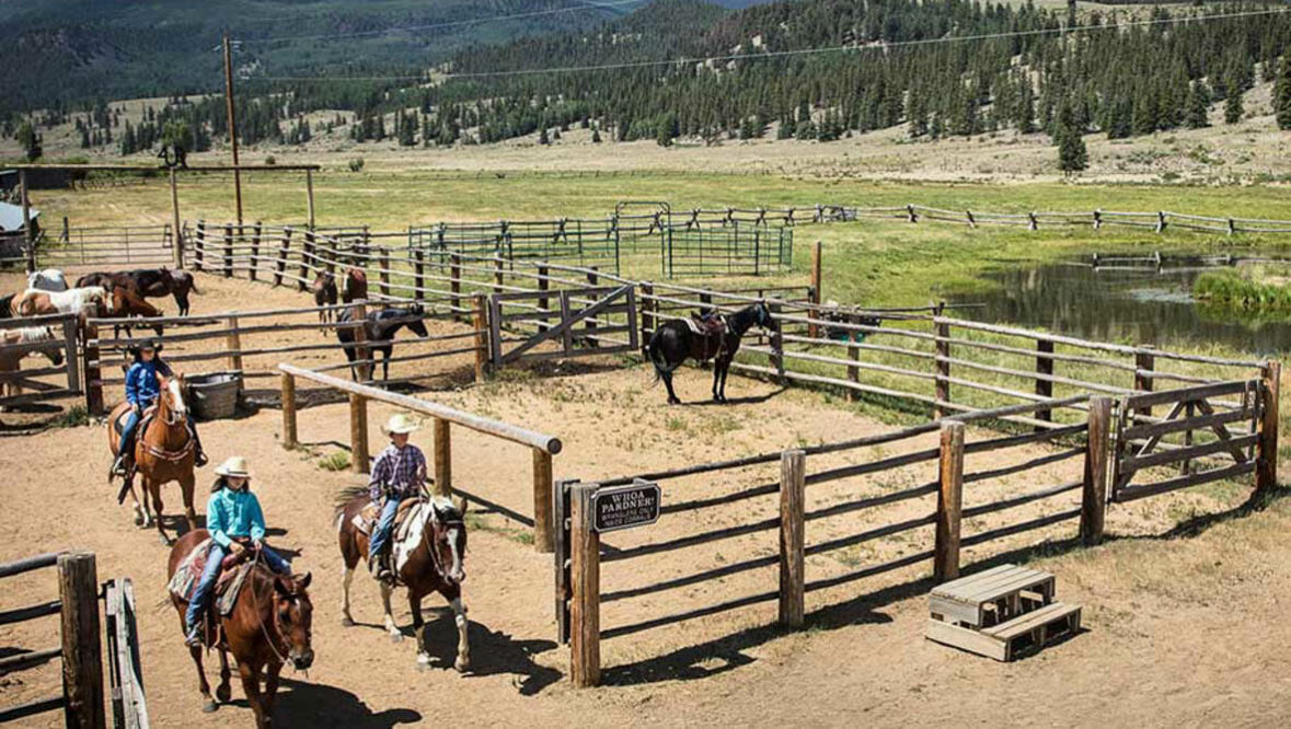 Horse corral at 4UR Ranch