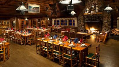 Dining room at Averills Ranch