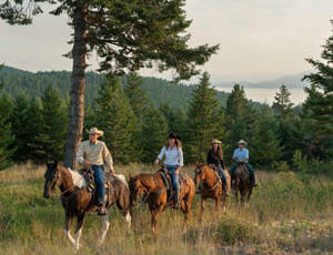 Trail ride at Averille Ranch