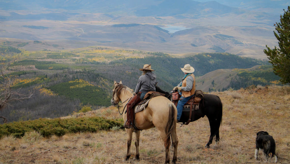 Trail ride with a view at Bar Lazy J Ranch
