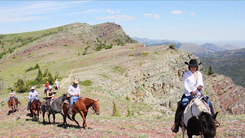 Trail ride at Blacktail Ranch