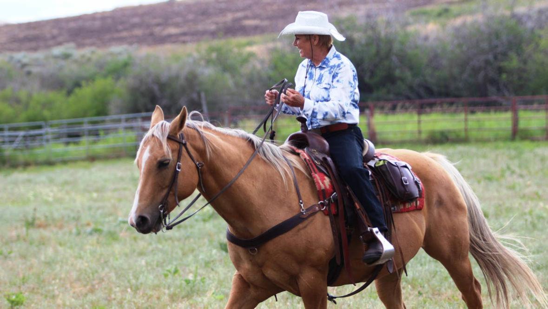 Cowgirl on a trail at Bonanza Creek Trail