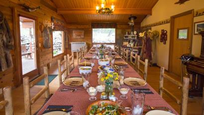 Dining room at Bonanza Creek Ranch