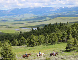 Trail ride with a view at Bonanza Creek Ranch