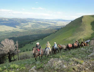 Pack trip ride with a view at Broken Arrow Ranch