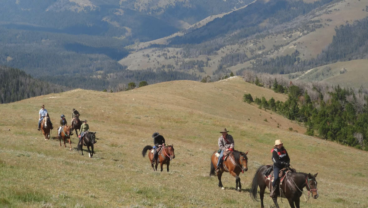 Family trail ride with a view at Broken Arrow Ranch