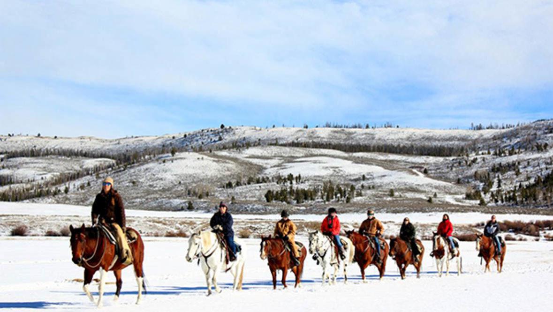 Winter trail ride at C Lazy U Ranch