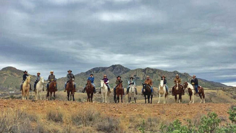 Family reunion ride at Circle Z Ranch