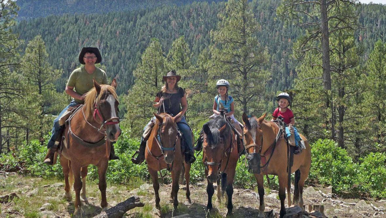 Family ride at Colorado Trails Ranch