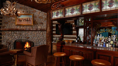 Lodge bar at The Boardmoor's Ranch