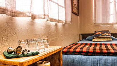 Lodge bedroom at Elkhorn Ranch Arizona