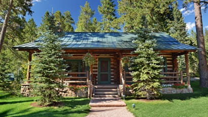Log cabin at The Broadmoor's Ranch