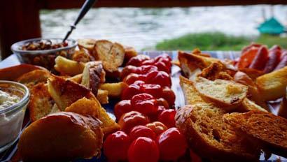 Appetizers at Flat Creek Ranch