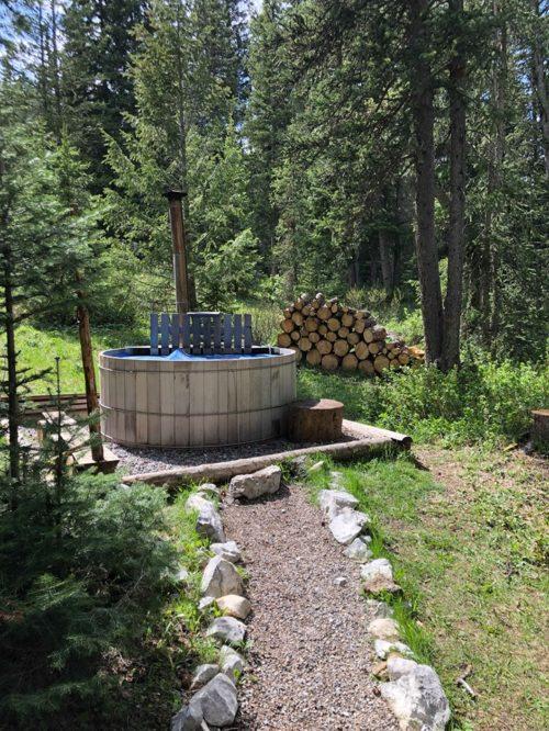 western woodfired hot tub
