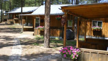 Lodge cabins at Geronimo Ranch