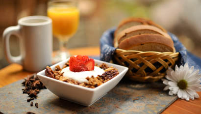 Granola breakfast at Mountain Sky Guest Ranch