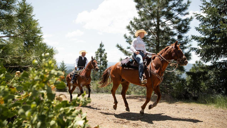 Guests loping at Greenhorn Ranch