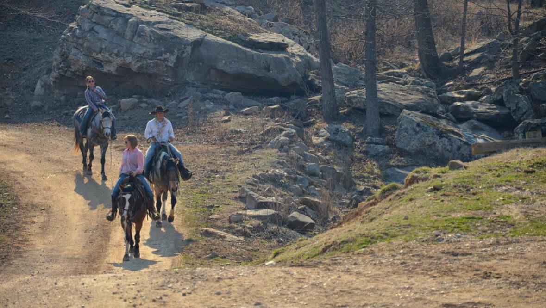 Trail ride at Horseshoe Canyon Ranch