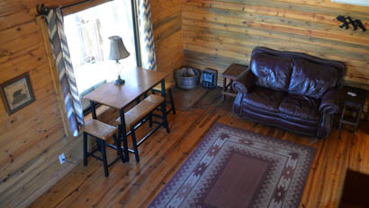 Living room at Horseshoe Canyon Ranch