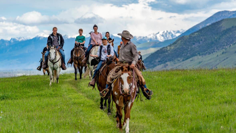 Trail ride at Hubbards Ranch