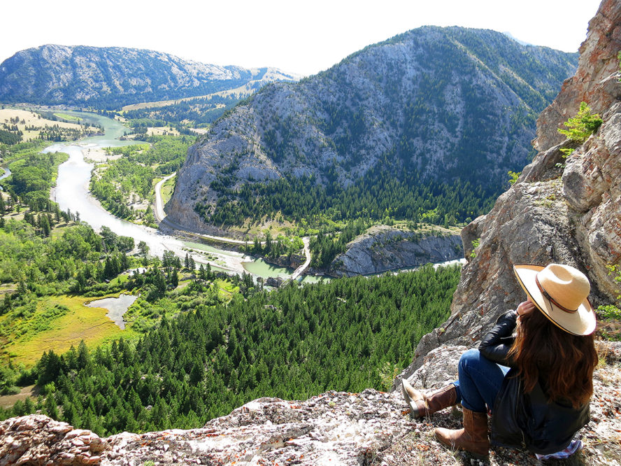 JJJ Wilderness ranch child looking over valley and river