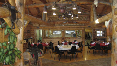 Dining room at K Diamond K Ranch