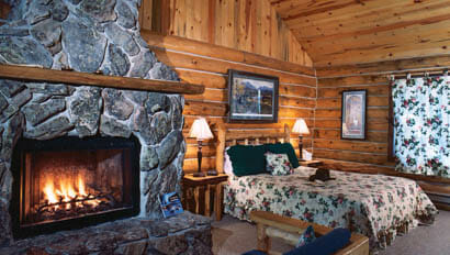Inside of a lodge at Klondike Ranch