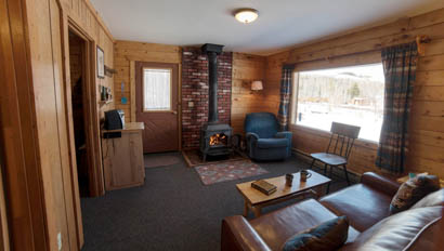 Lodge living room at Latigo Dude Ranch