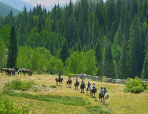 Trail ride at Majestic Dude Ranch