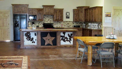 Lodge kitchen at McGarry Ranch