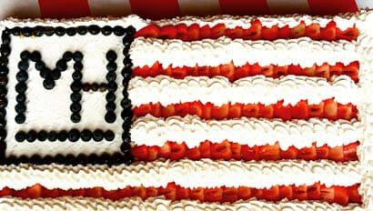 Fourth of July Cake at Moosehead Ranch