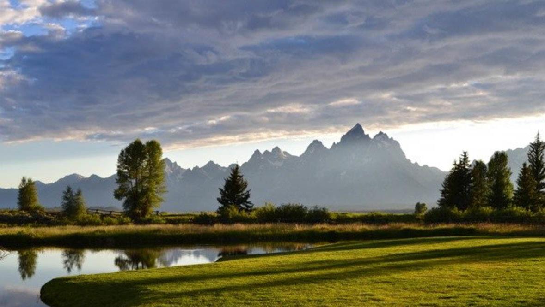 Grand Tetons view at Moosehead Ranch