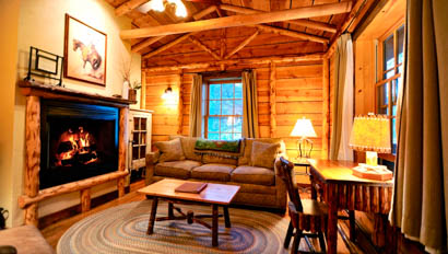 Lodge with fireplace at Mountain Sky Guest Ranch