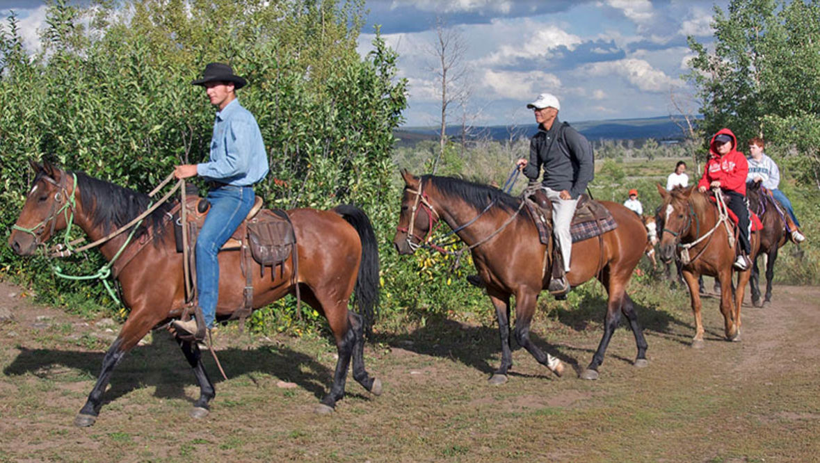 Trail ride at Parade Rest Ranch