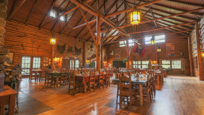 Dining room at Rainbow Trout Ranch