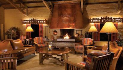 Living room at the lodge at Rancho de los Caballeros