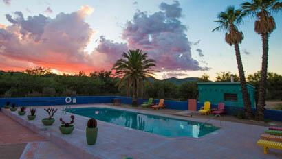 Swimming pool at Rancho de la Osa