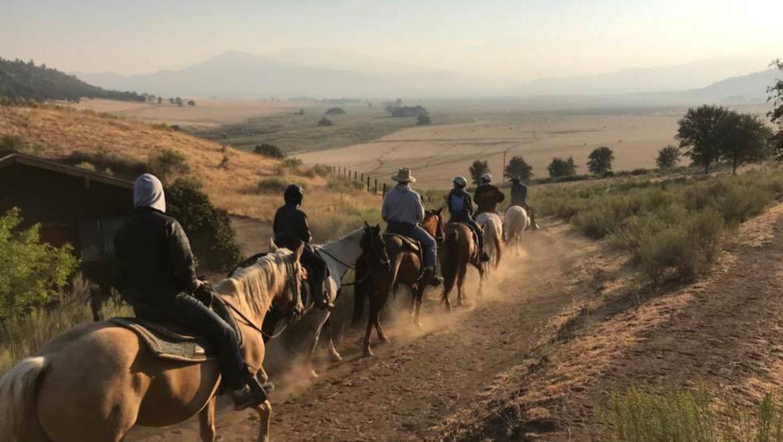 Sunset trail ride at Rankin Ranch