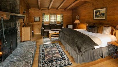 Lodge bedroom at Rawah Ranch