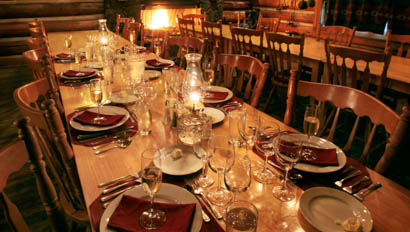 Dining table at Red Horse Mountain Ranch