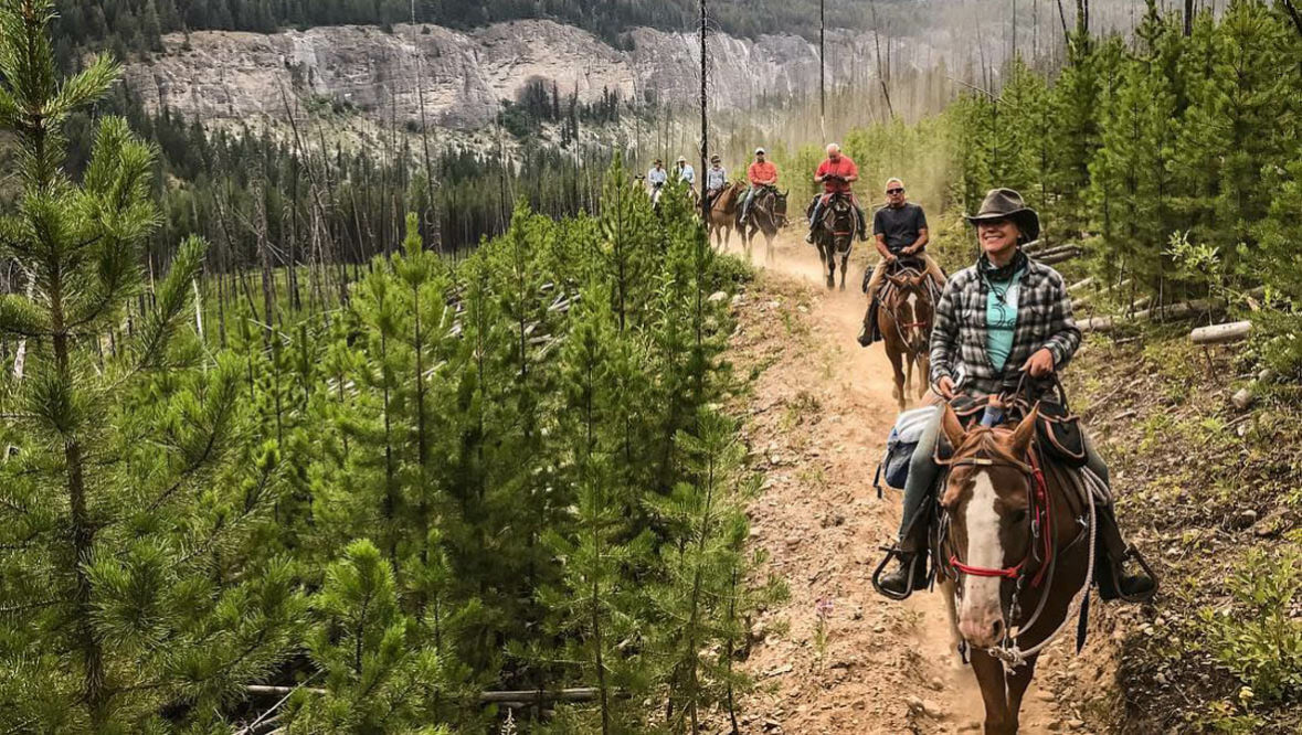 Trail ride at Rich's Montana Guest Ranch