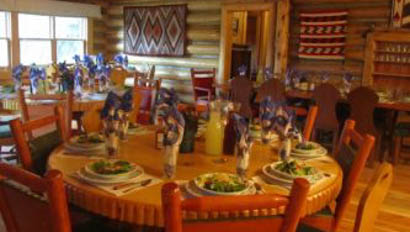 Dining room at Rimrock Dude Ranch