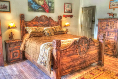 Western Style lodging room with wooden furniture