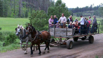 Sprucedale Guest Ranch hay ride
