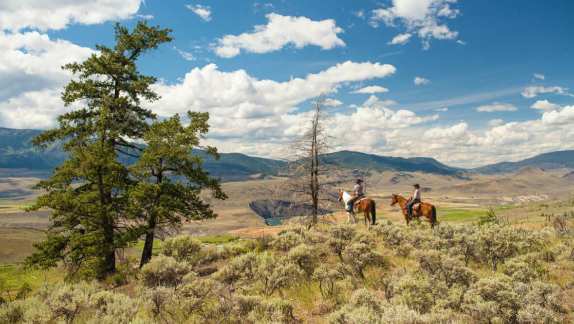 Sundance Guest Ranch trail riding with a view