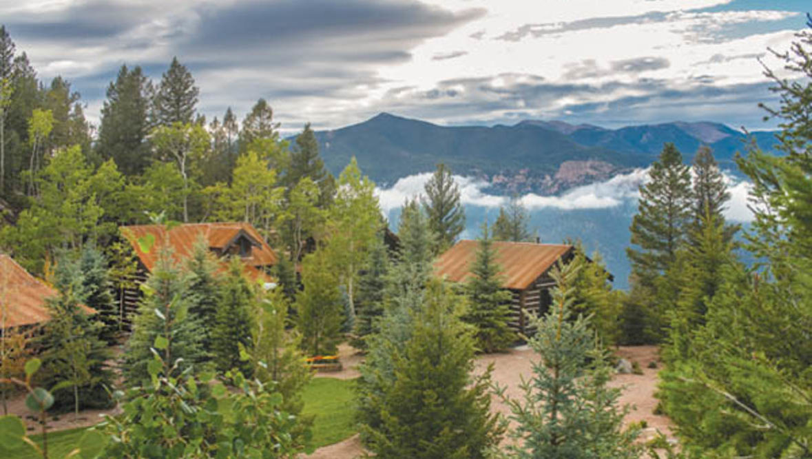 Camp cabins at The Broadmoor's Ranch