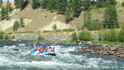 Three Bars Ranch white water rafting near Glacier National Park
