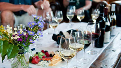 Vista Verde food and wine spread