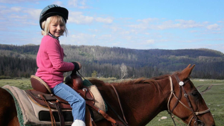 Vista Verde kid on a horse