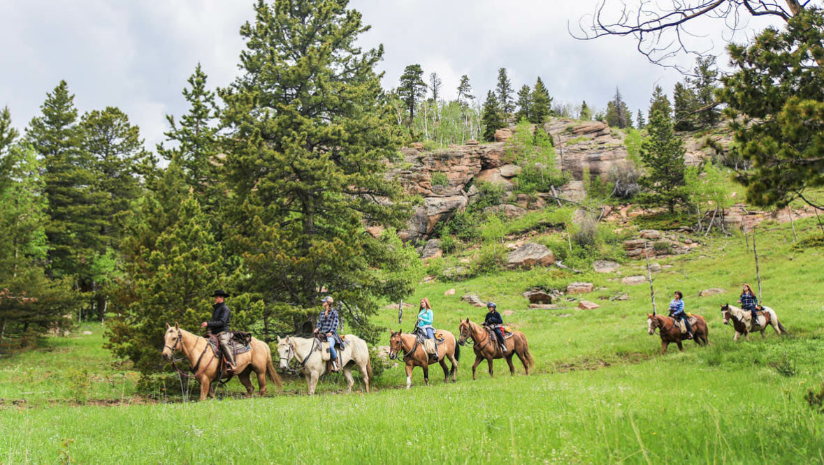 Wind River family trail ride